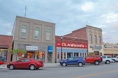 Biznesy na Frontowej ulicie w w centrum Beaufort, Pólnocna Karolina obrazy stock
