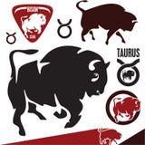 Bizon. Żubr. Taurus. royalty ilustracja