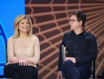 Bizsteen en Arianna Huffington royalty-vrije stock afbeeldingen