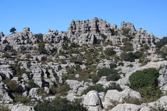 Bizzare rock formation at Sierra de Torcal Stock Photo