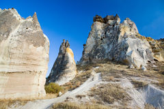 Bizzare rock formations in Cappadocia Royalty Free Stock Photography