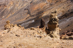Bizzare rock formations in Tongariro National Park Stock Photo