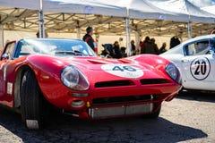 Bizzarrini 5300 GT in der montjuic Geist Barcelona-Stromkreisautoshow lizenzfreies stockfoto