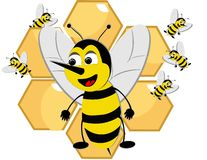 Bizzy Bees swarming.. Royalty Free Stock Images