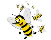 Bizzy swarming bees Stock Images