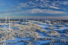 Björkhöjden风力场 图库摄影