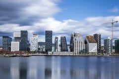 Bjørvika a Oslo Norvegia Immagini Stock Libere da Diritti