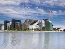 Bjørvika in Oslo Norwegen Lizenzfreie Stockfotos