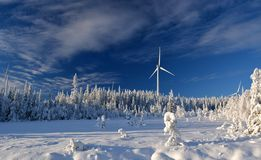 Björkhöjden wind farm Royalty Free Stock Images