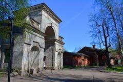 Björkportar i Gatchina petersburg russia st Royaltyfria Foton