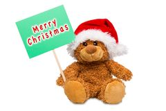 Björn för glad jul arkivfoto