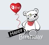 Björn för kort för lycklig födelsedag stock illustrationer