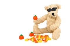 björn halloween Arkivbild