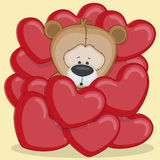 Björn i hjärtor Arkivfoton