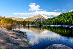 Björn lake Stenig bergnationalpark Colorado Arkivbilder