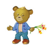 björn little royaltyfri illustrationer