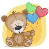 Björn med baloons Fotografering för Bildbyråer