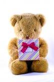 Björn med hjärta royaltyfria foton