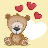 Björn med hjärtor Arkivbilder