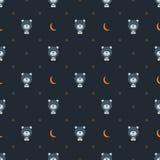 Björn med månen och stjärnor Arkivfoto