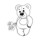 Björn också vektor för coreldrawillustration Arkivbilder