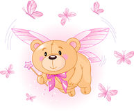 björn som flyger rosa nalle Arkivfoton