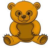 björn som isoleras över sittande nallewhite vektor illustrationer