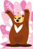 björn som spökar pumpa Royaltyfria Bilder