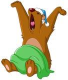 Björn som vaknar upp royaltyfri illustrationer