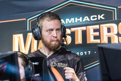 Björn `THREAT` Persson second of win. Björn `THREAT` Persson the second of win against NAVI in the Q-finals Royalty Free Stock Image
