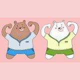 2 björnar Fotografering för Bildbyråer