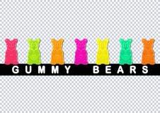 björnar färgade klibbigt Royaltyfri Fotografi
