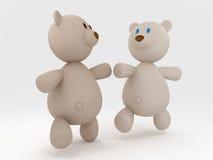 björnar som kör nalle Royaltyfri Bild