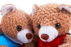 björnar toy tillsammans Royaltyfri Fotografi