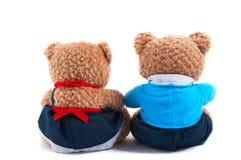 björnar toy tillsammans Royaltyfri Bild