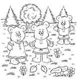 björnar tre Arkivbilder