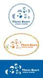 björnar tre vektor illustrationer