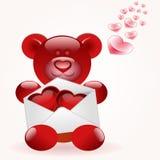 björnbokstavsförälskelse Royaltyfria Bilder