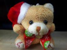 björnclaus santa nalle Fotografering för Bildbyråer
