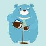 Björndrink för mycket kaffe Royaltyfria Foton