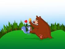 björnekorre Royaltyfri Bild