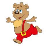 Björnen är ett tecknad filmtecken Klottrar illustrationen, Royaltyfri Foto