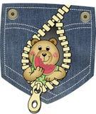 björnen äter vattenmelonen vektor illustrationer