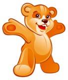 björnen hands upp nalle Royaltyfri Fotografi