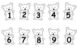 björnen numrerar nalle royaltyfri illustrationer