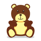 björnen patches nalle Arkivbild
