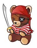 björnen piratkopierar nalle Fotografering för Bildbyråer