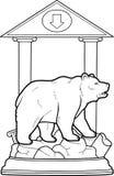 Björnen står på en sockel Royaltyfria Bilder