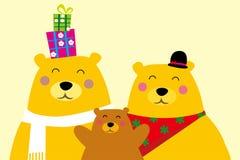 björnfamilj royaltyfri illustrationer