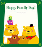 björnfamiljram vektor illustrationer